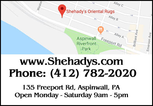 Oriental Rug Cleaning And Repair Pittsburgh Map 2